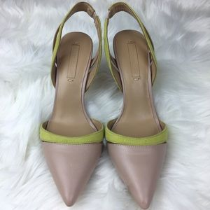 BCBG Maxazria clare leather pointed heels